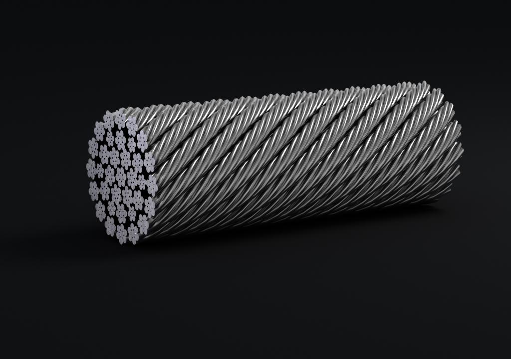 四股扇形股钢丝绳